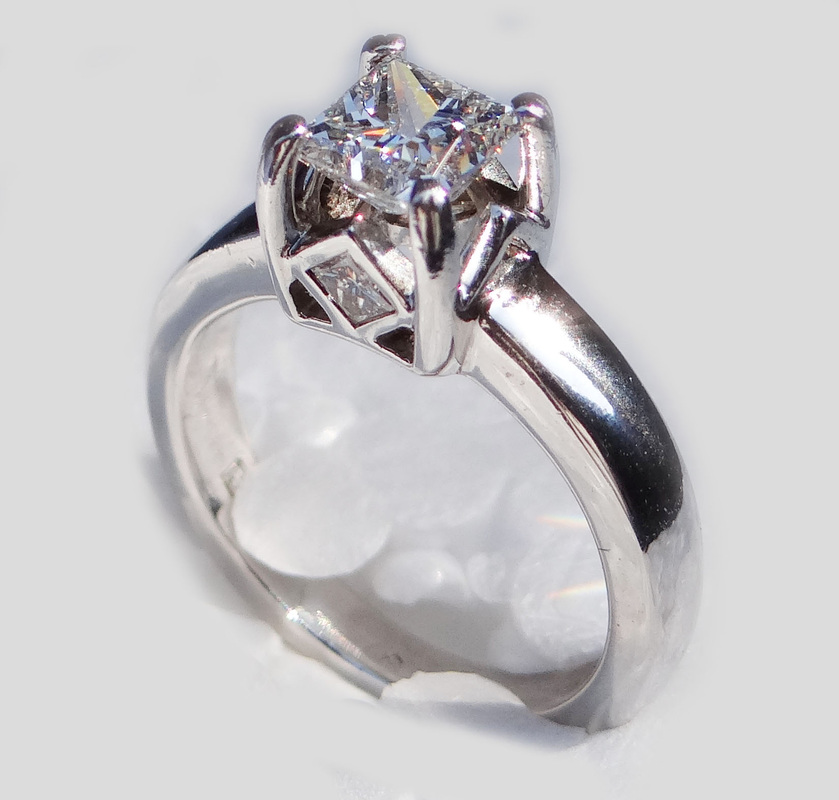 Featured For Is An Absolutely Gorgeous Platinum And Diamond Lady S Enement Ring Size 4 1 Stamped Inside The Shank With Jeweler Hallmark